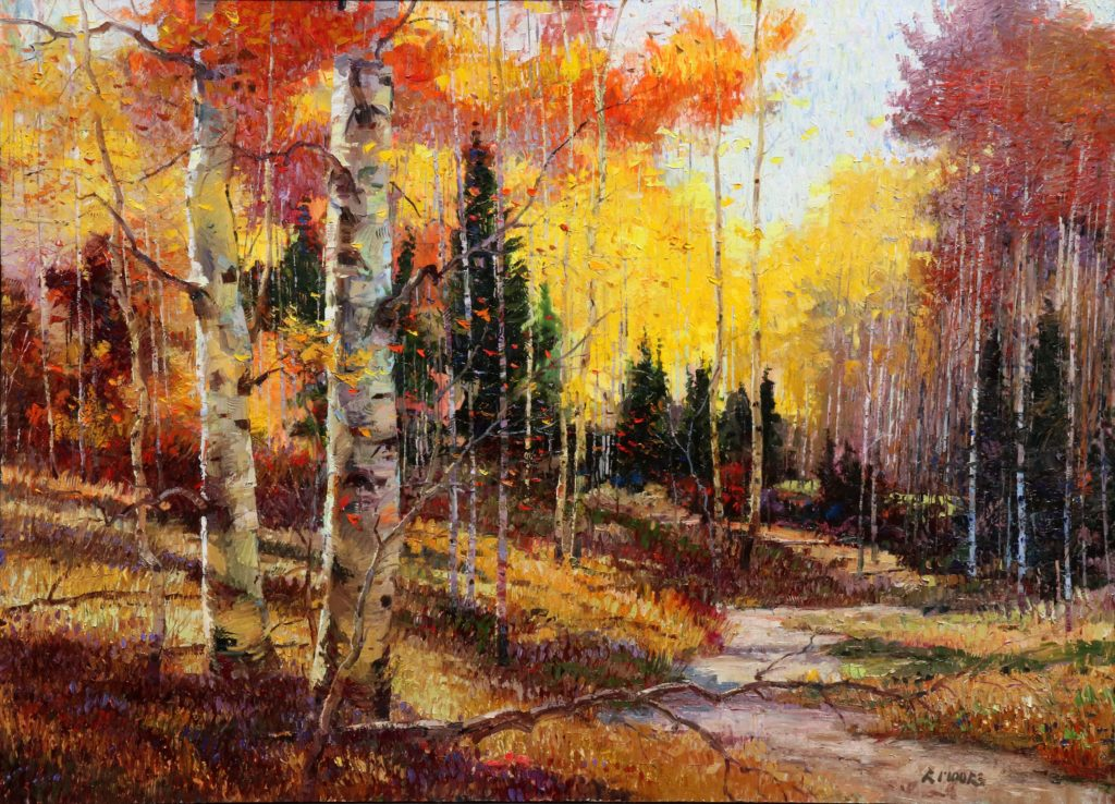 The forest Sings for Joy 72x96 Robert Moore