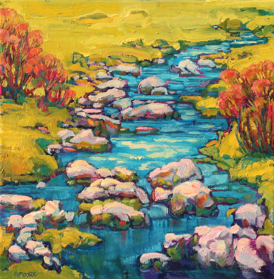 Bubbling 12x12 Anna Moore
