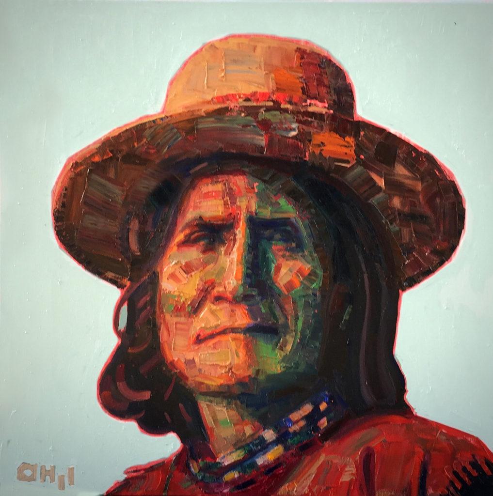 Geronimo 1900, 24x24  (Chiricahua Apache)