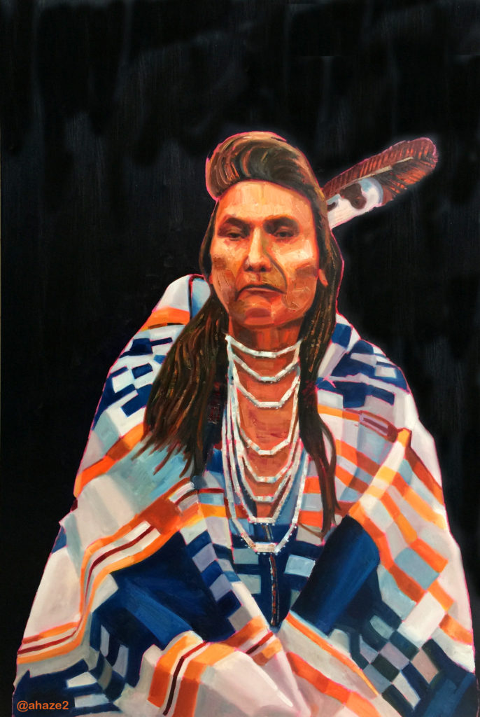 Chief Joseph in Blanket 40x60