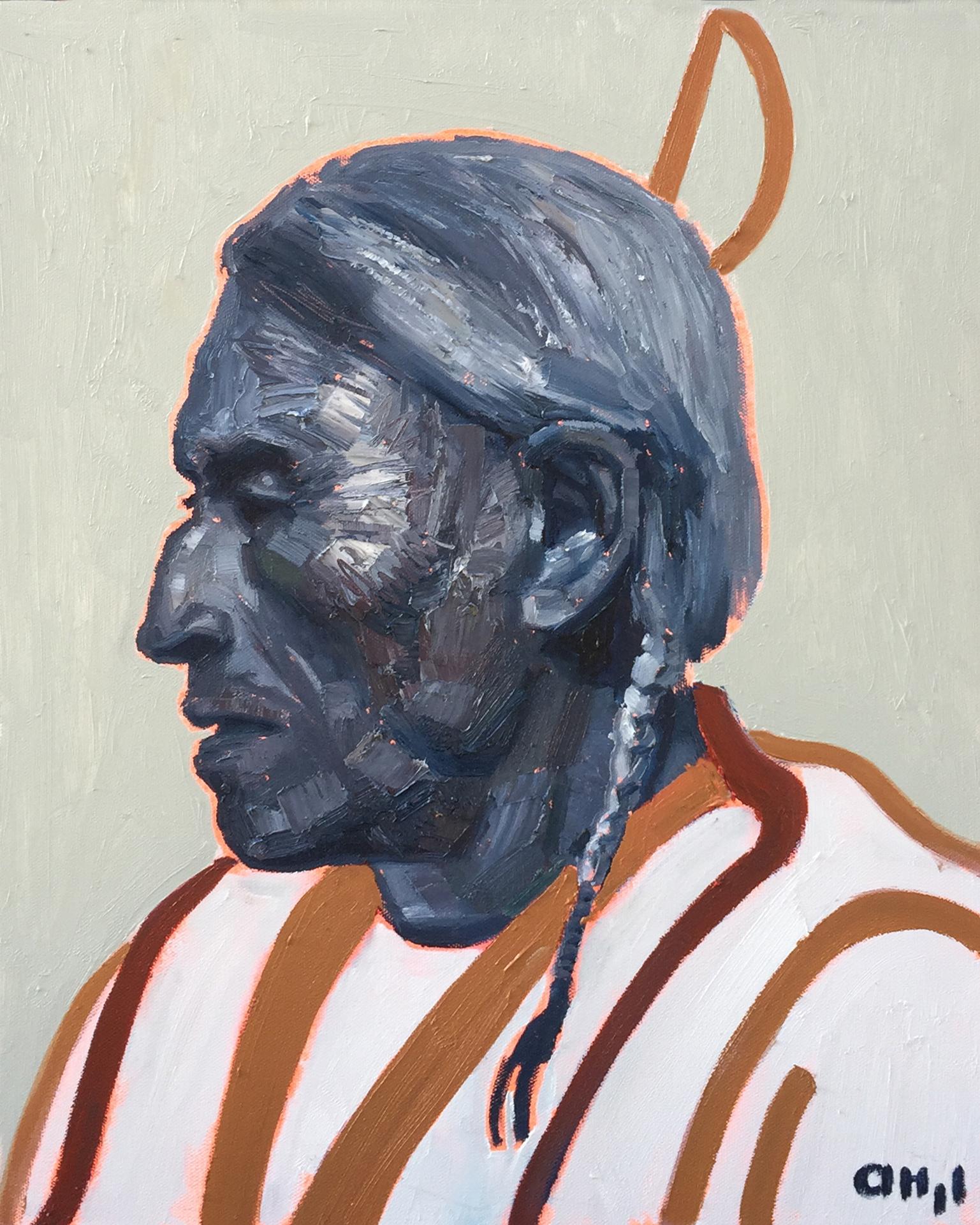 Assiniboine Man 16x20